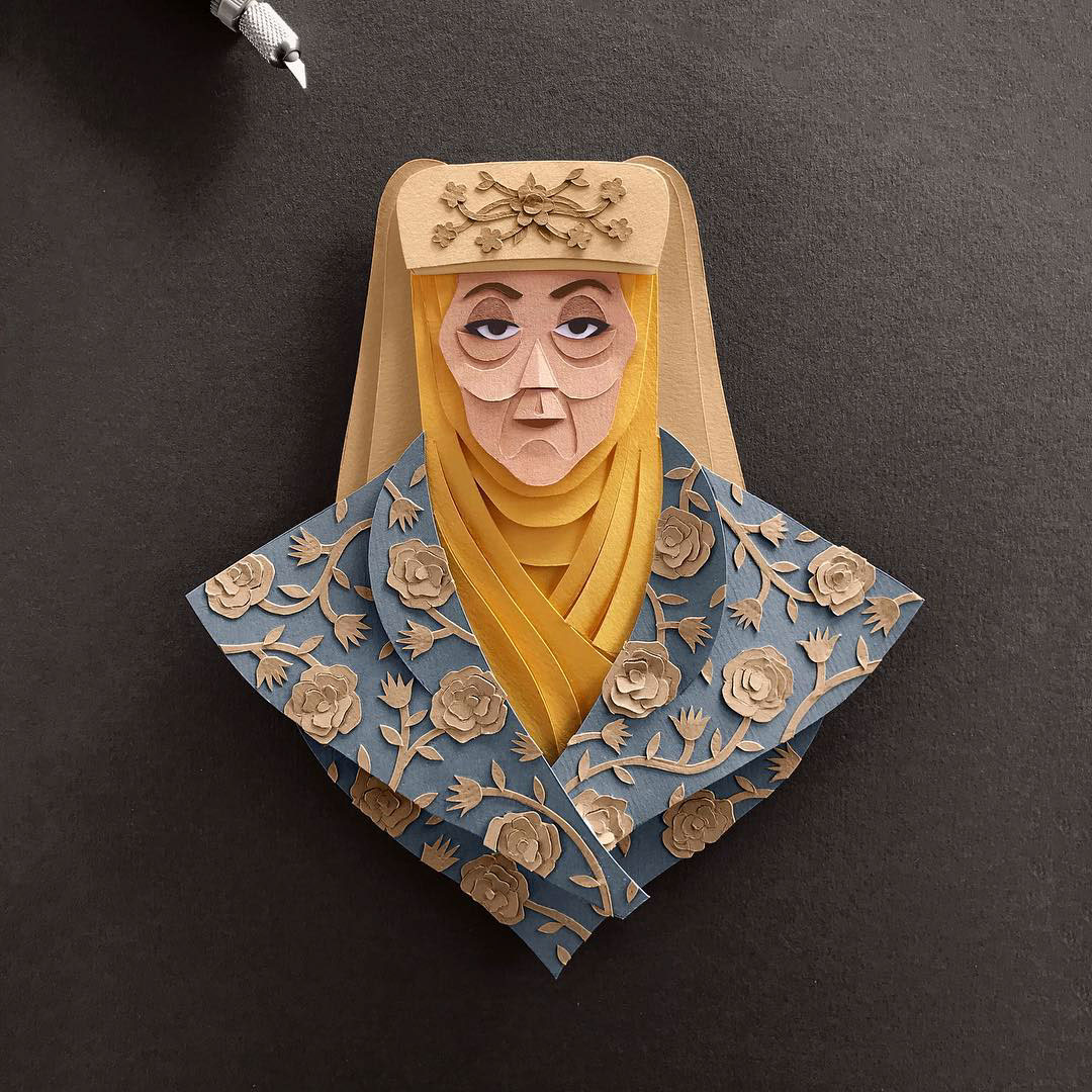 Olenna Tyrell Gregorio Game of Thrones Papercut