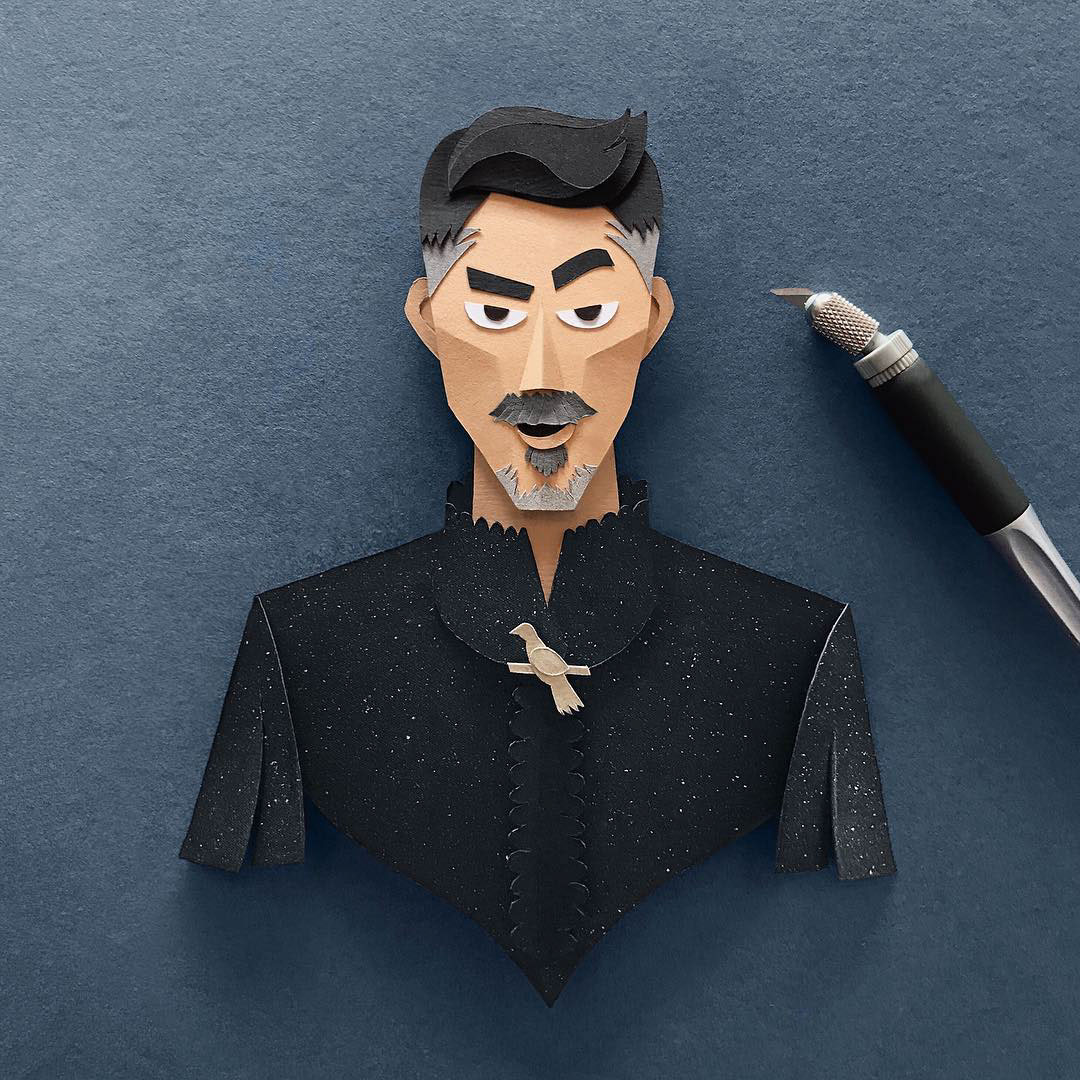 Petyr 'Littlefinger' Baelish Gregorio Game of Thrones Papercut