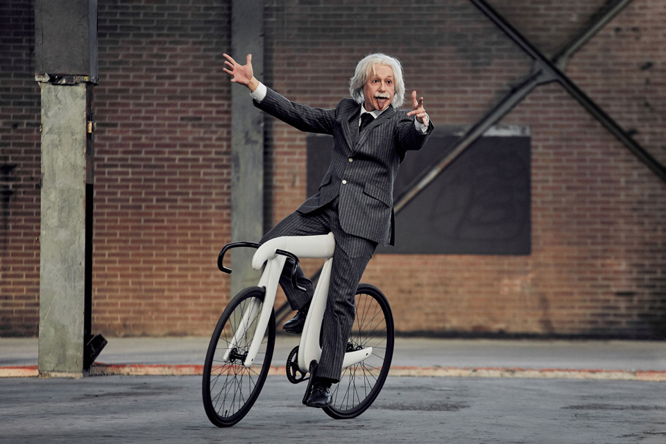 Picycle Pi Bicycle Albert Einstein Riding No Hands