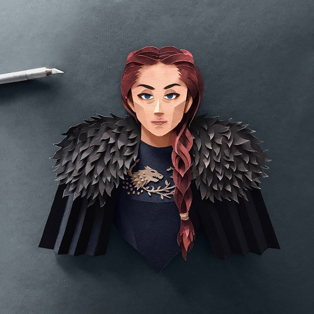 Sansa Stark Gregorio Game of Thrones Papercut