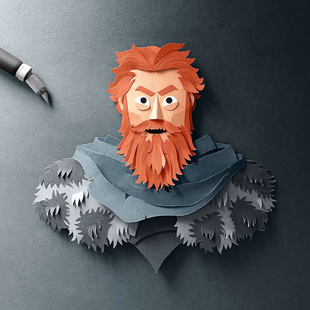 Tormund Giantsbane Gregorio Game of Thrones Papercut
