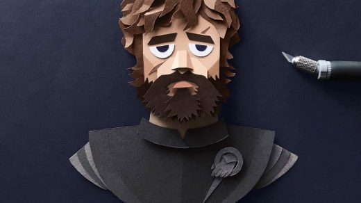 Tyrion Lannister Gregorio Game of Thrones Papercut