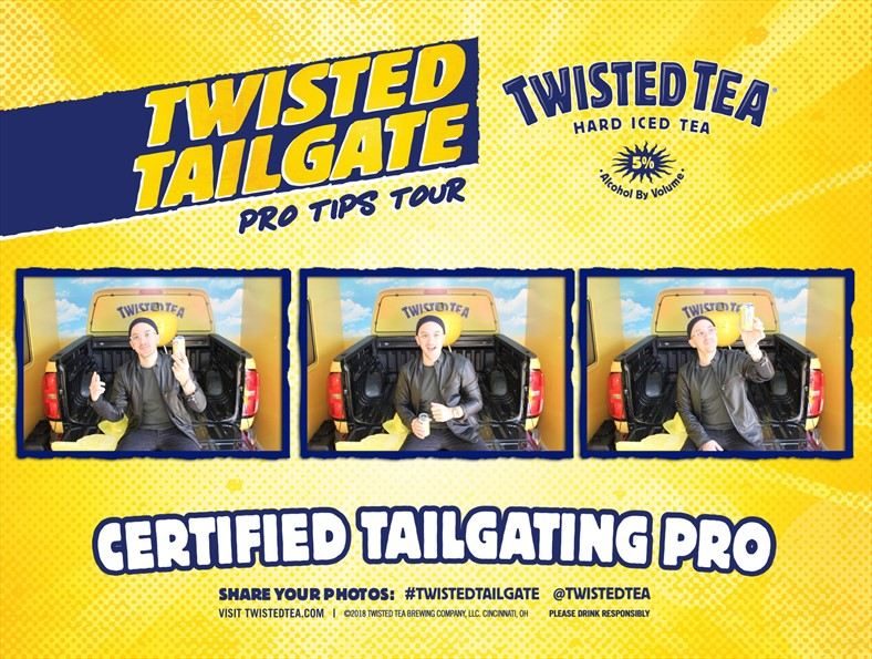 Twisted Tailgate Pro Tips Tour Photo Booth