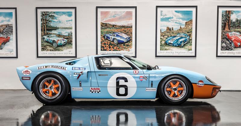 GT40 Sitting pretty in a showroom