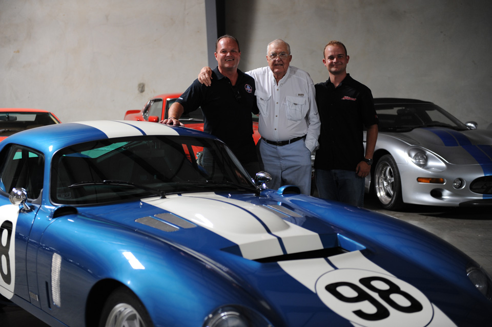 Lance Sander, Carroll Shelby and Ashton Stander, Lance's son