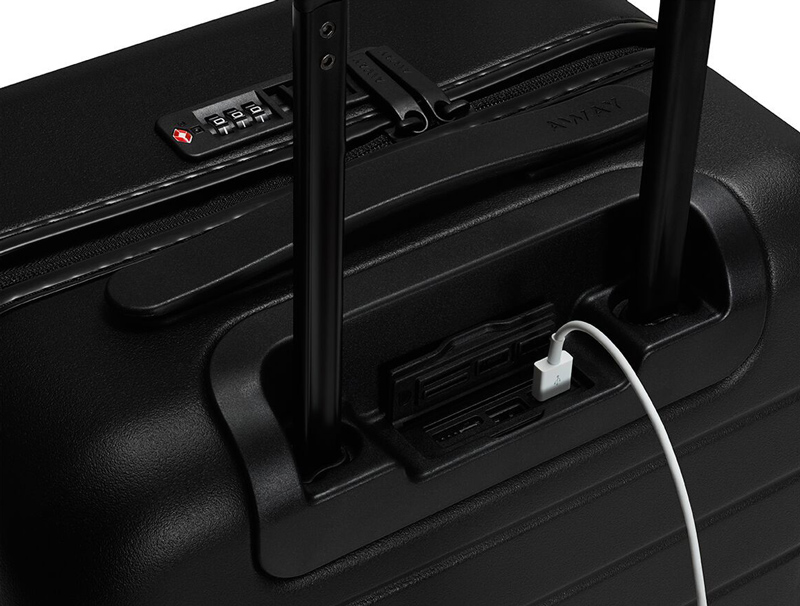 Close-up of The Carry-on with Pocket charger