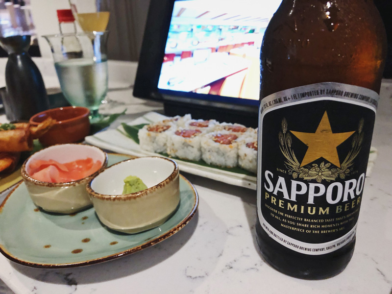 Sapporo Premium Beer on International Sushi Day