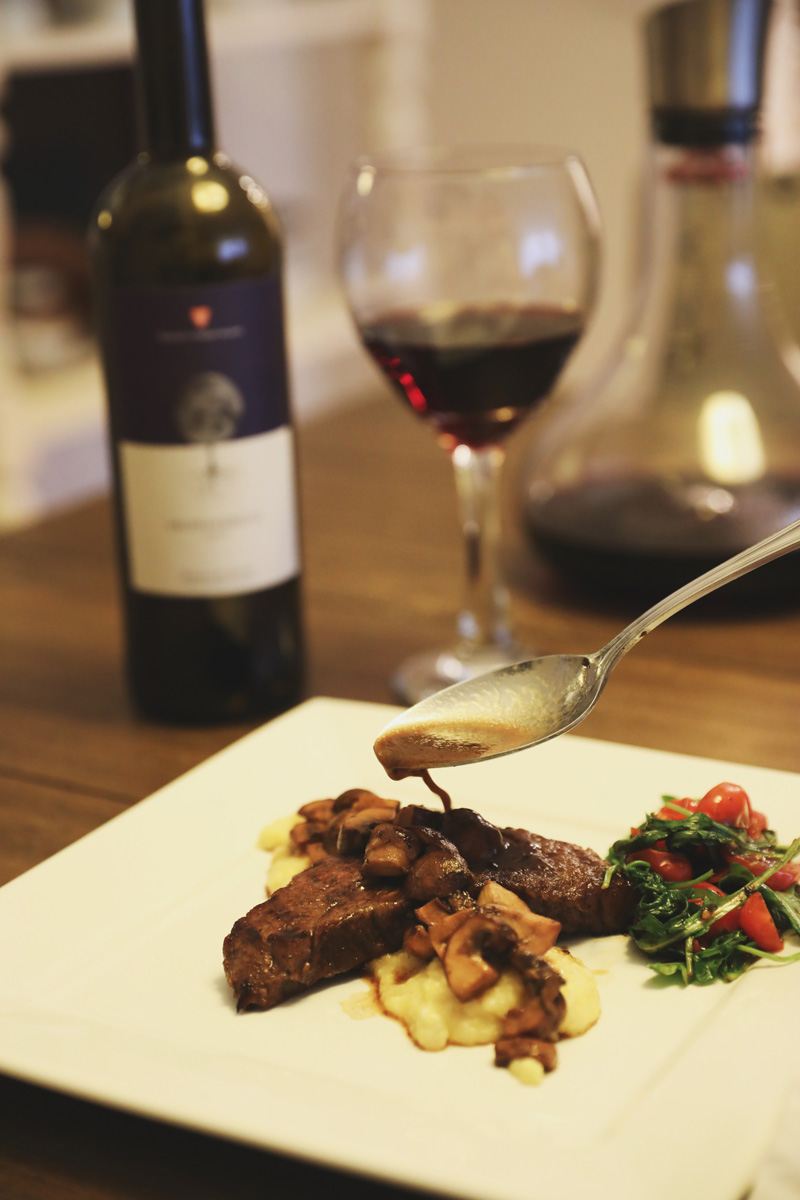 Delicious steak and polenta recipe