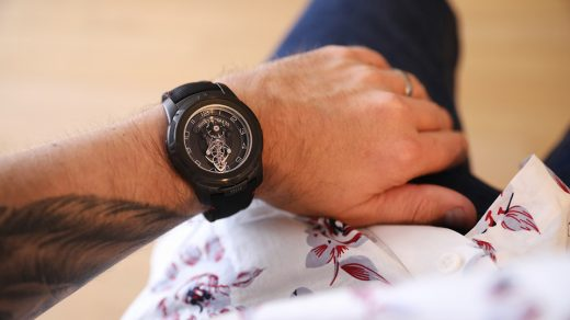 Wearing the Ulysse Nardin 2053-132/Black