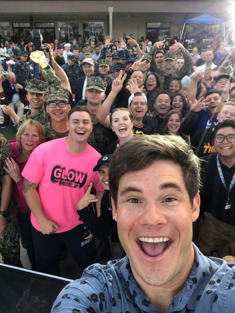 Adam Devine at Humor for Heroes event
