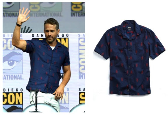 Ryan Reynolds wearing Todd Snyder at Comic Con 2018