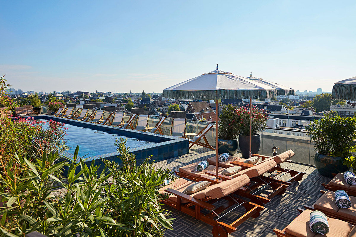Soho House Amsterdam pool