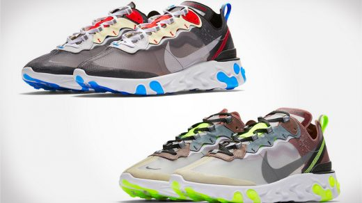 "Nike's React Element 87 ""Dark Grey"" & ""Desert Sand"""