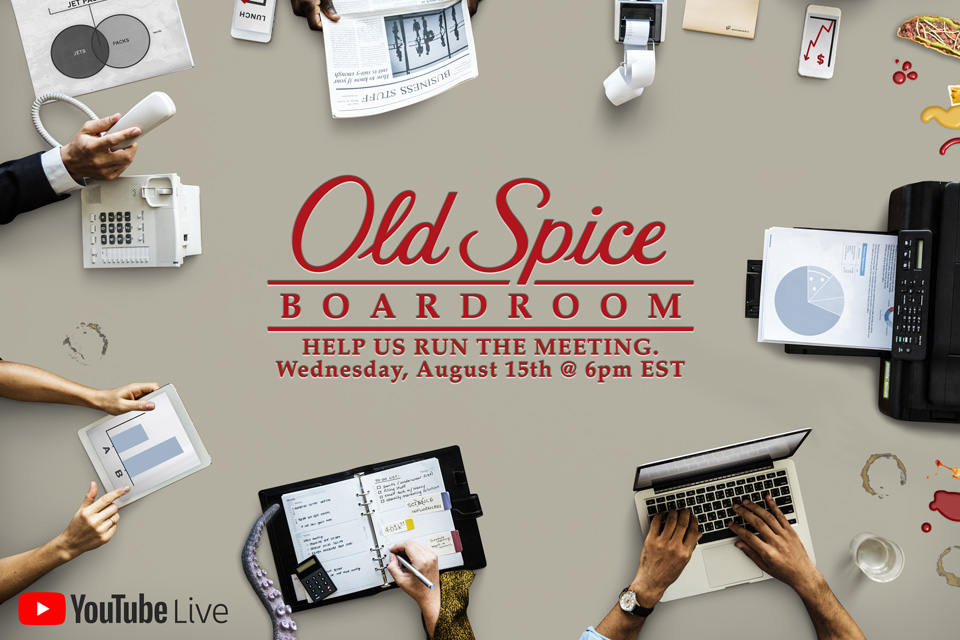 Old Spice Boardroom LIVE