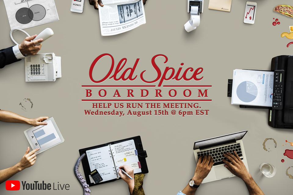 Old Spice Boardroom LIVE