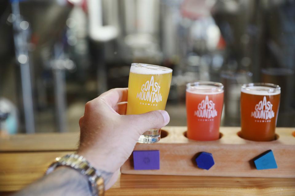 Coast Mountain Brewing beer tasting