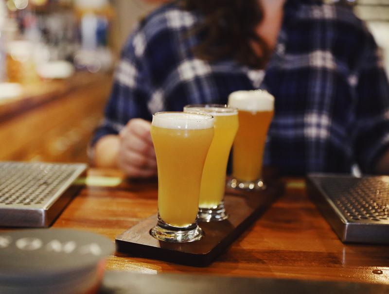 Fitzsimmons Pub beer flight