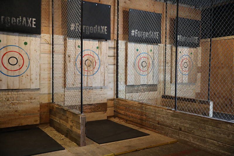 Learning how to throw axes at Forged Axe Whistler