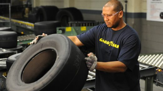 Goodyear Race Tire Inspection