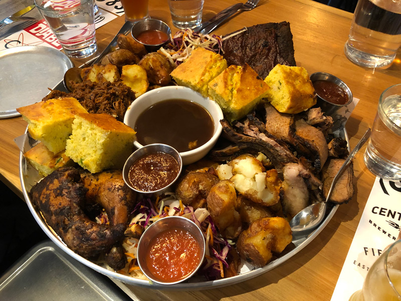 Grant's Family Style Farm Platter at Hunter Gather
