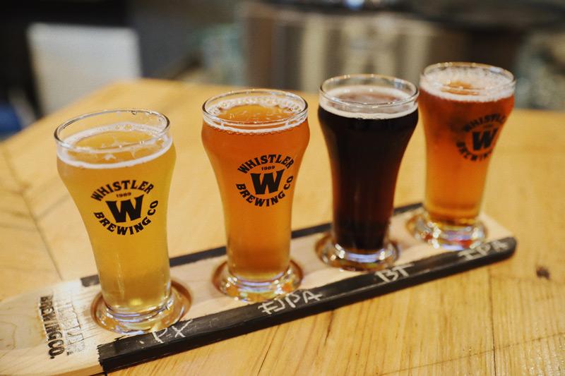 Whistler Beer Co. Beer Flight