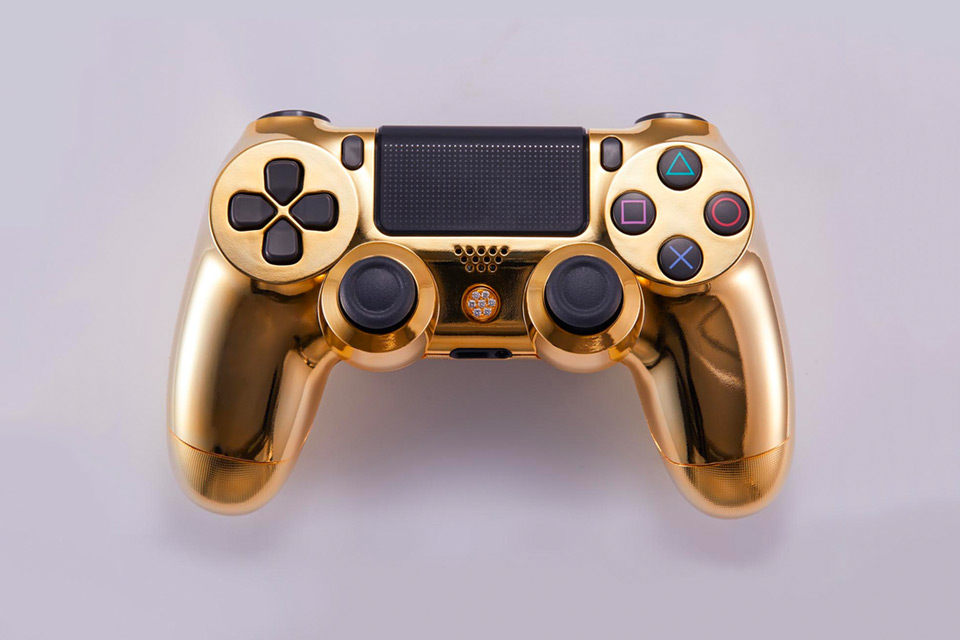 24K Yellow Gold Playstation 4 Controller - Classic Version