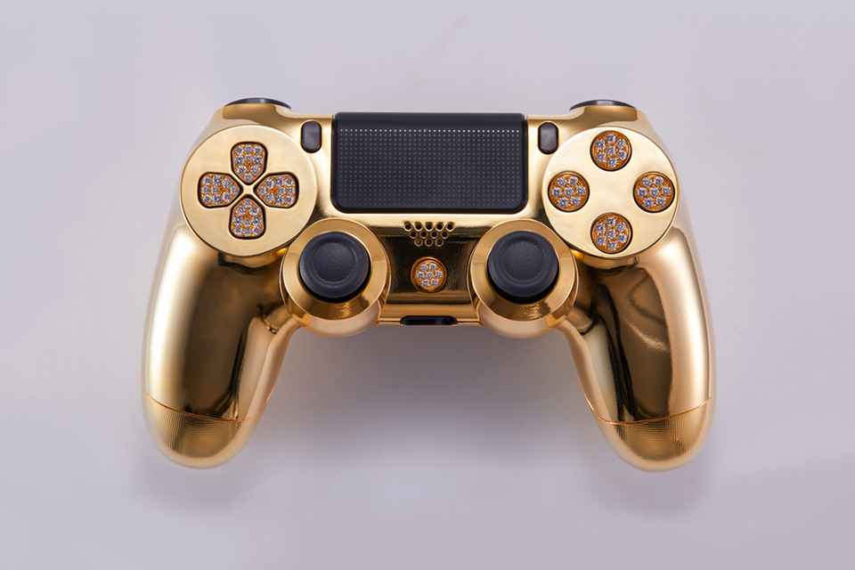 BRIKK 24K Yellow Gold Playstation 4 Controller - Deluxe Version