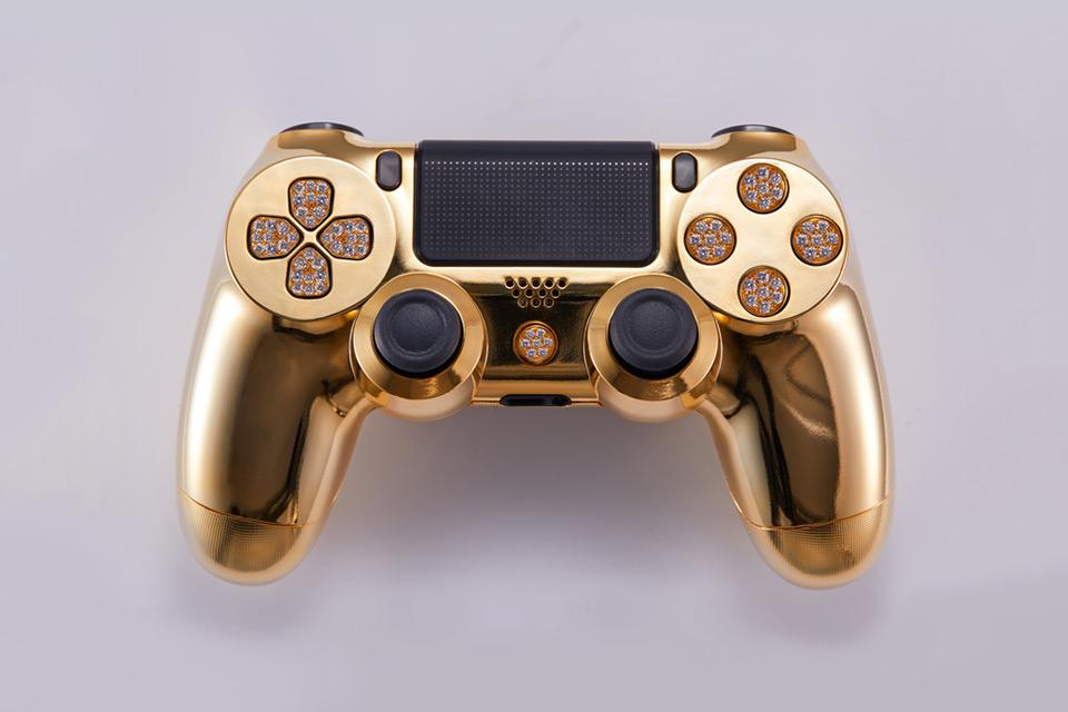 BRIKK 24K Yellow Gold Playstation 4 Controller - Deluxe Version
