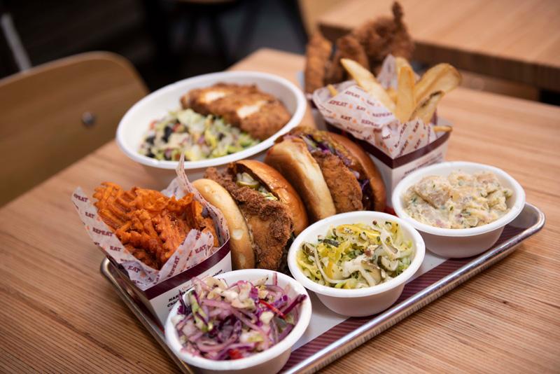 Big Chicken Restaurant Platter with Sides