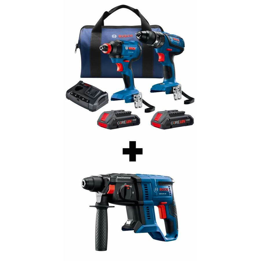 Bosch Compact Tough Core18V 2-Tool 18-Volt Power Drill Kit