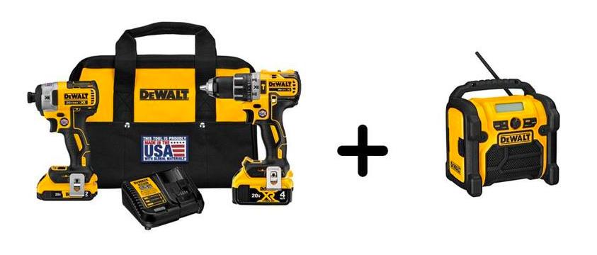 DEWALT XR 2-Tool Brushless Cordless Combo Kit