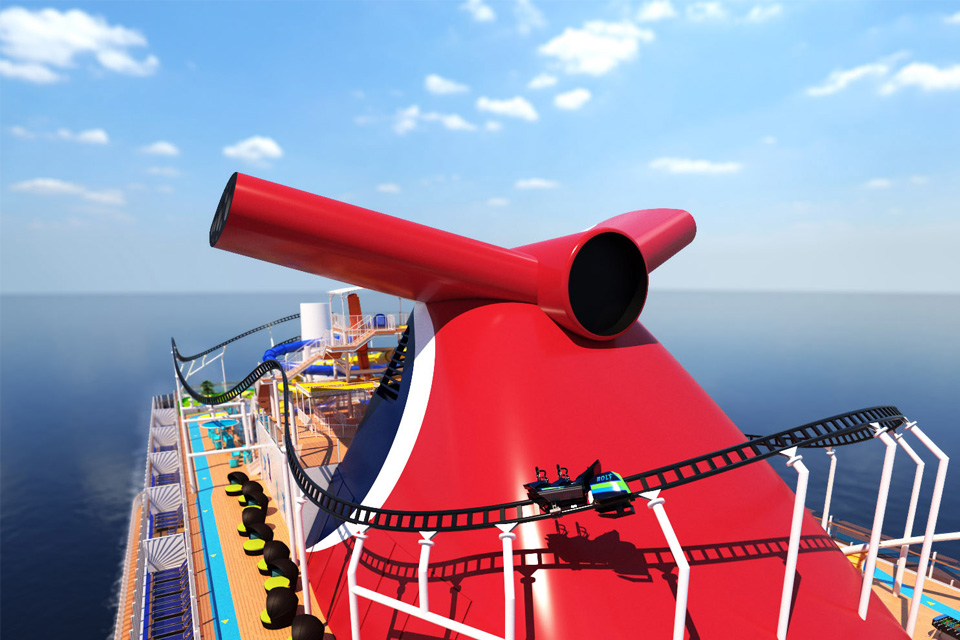 Bolt Roller Coaster on Carnival Cruise Line