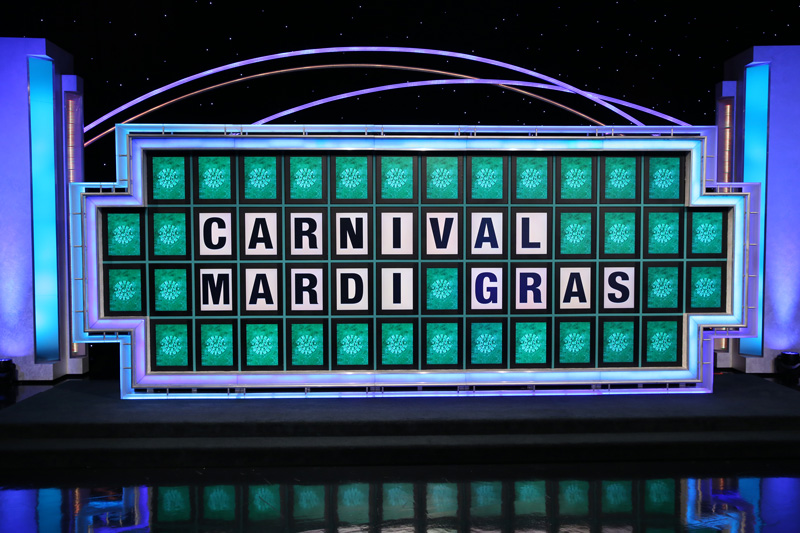 Carnival Mardi Gras announcement on Wheel of Fortune