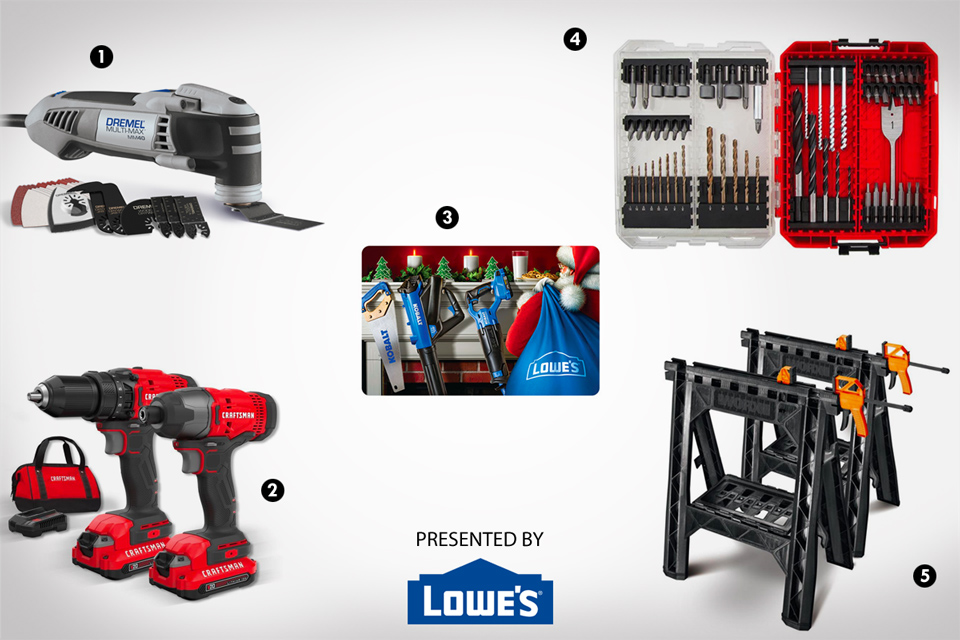 Lowe's Gift Guide for the DIYers in Your Life