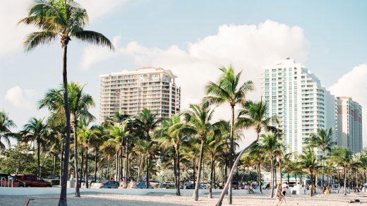 Miami beach scene