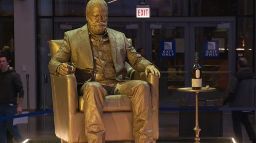 Nick Offerman as a Statue
