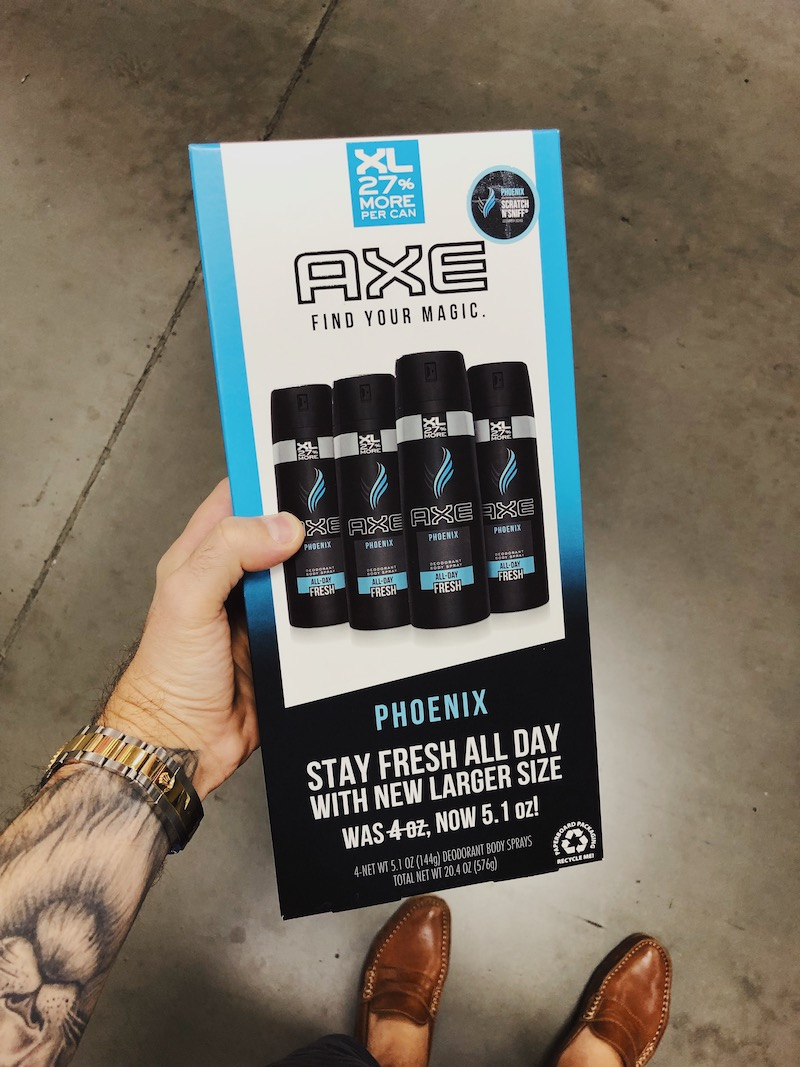Axe at Sam's Club