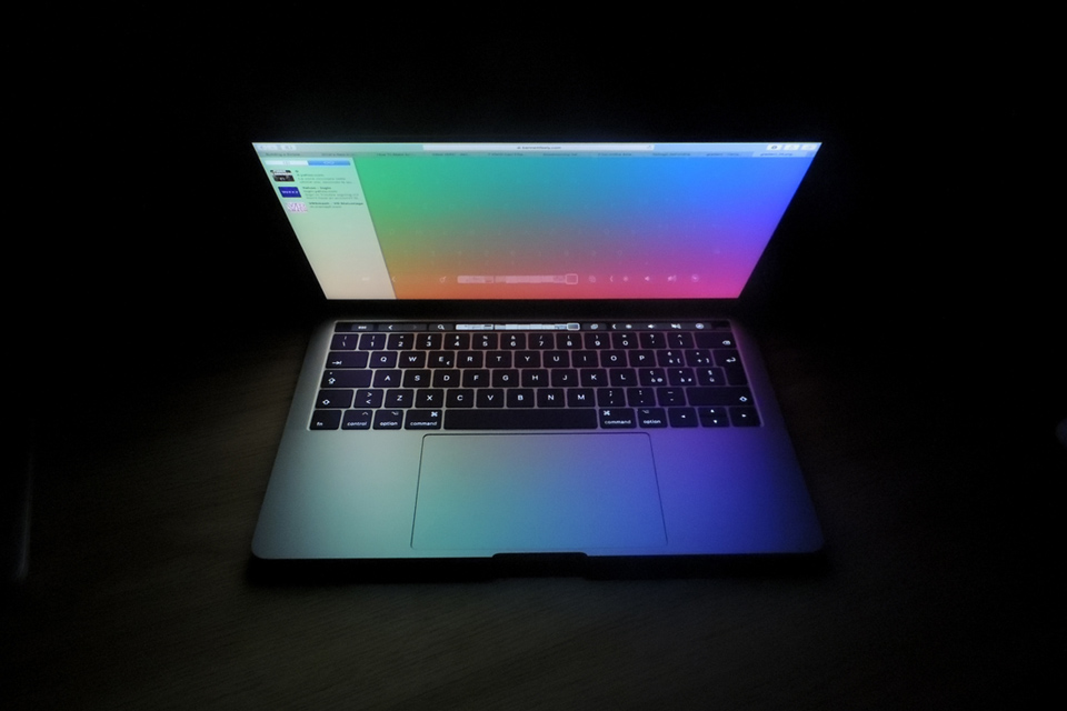 MacBook Laptop in Dark