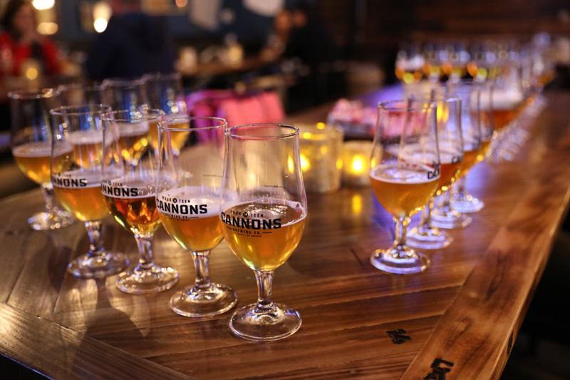 14 Cannons Brewery beer tasting