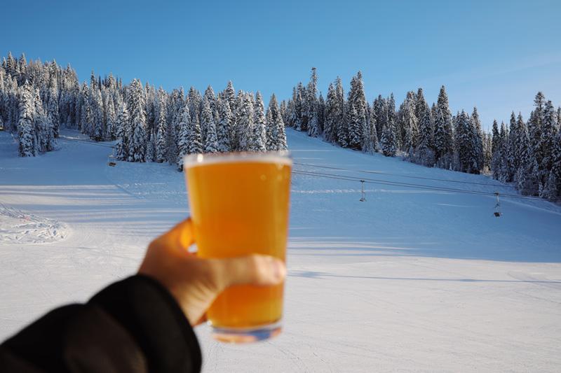 Enjoy a beer at the Brundage Mountain Resort