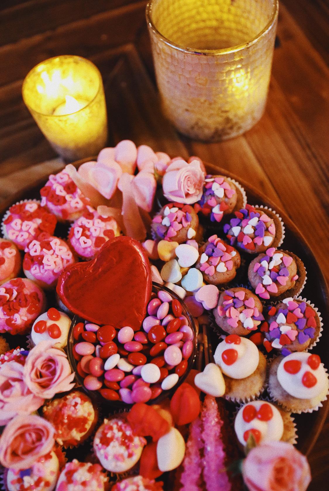 Celebrate with Sarah Valentine's Day dessert platter