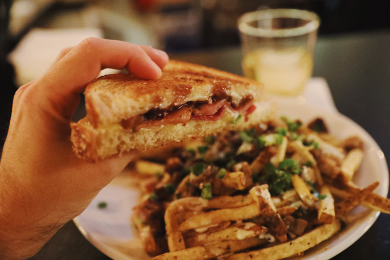 Juniper Grilled Cheese and Pork Belly Fries