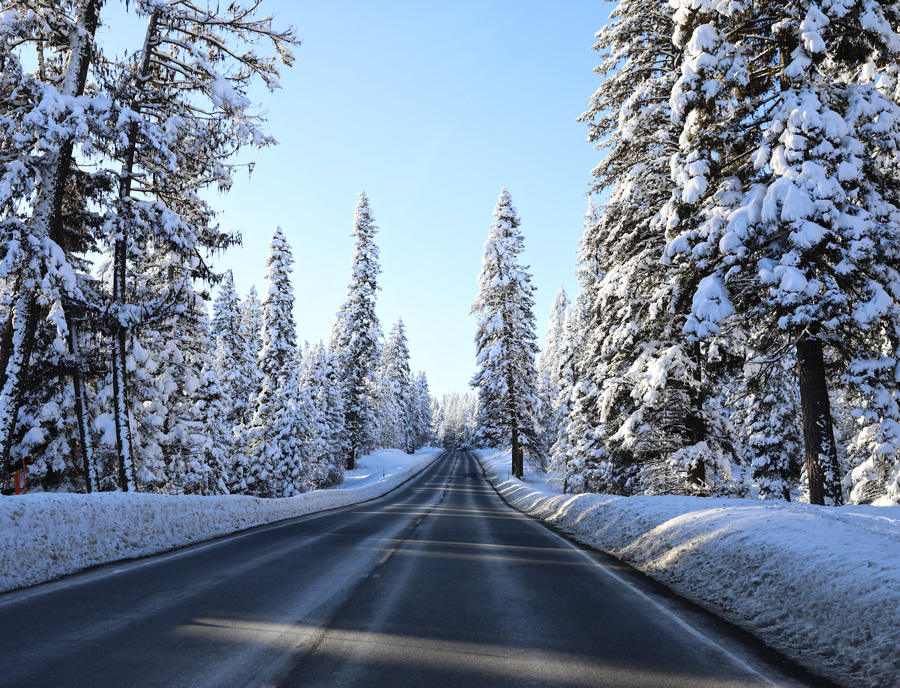 Winter wonderland roadt rip from Boise to McCall, Idaho