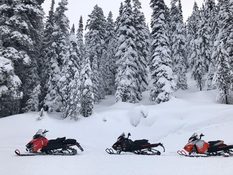 Snowmobiling in McCall, Idaho