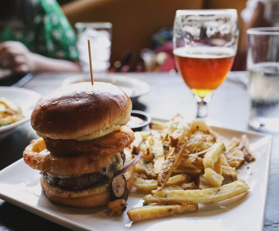 The Forager burger from Twisted Oak Tavern