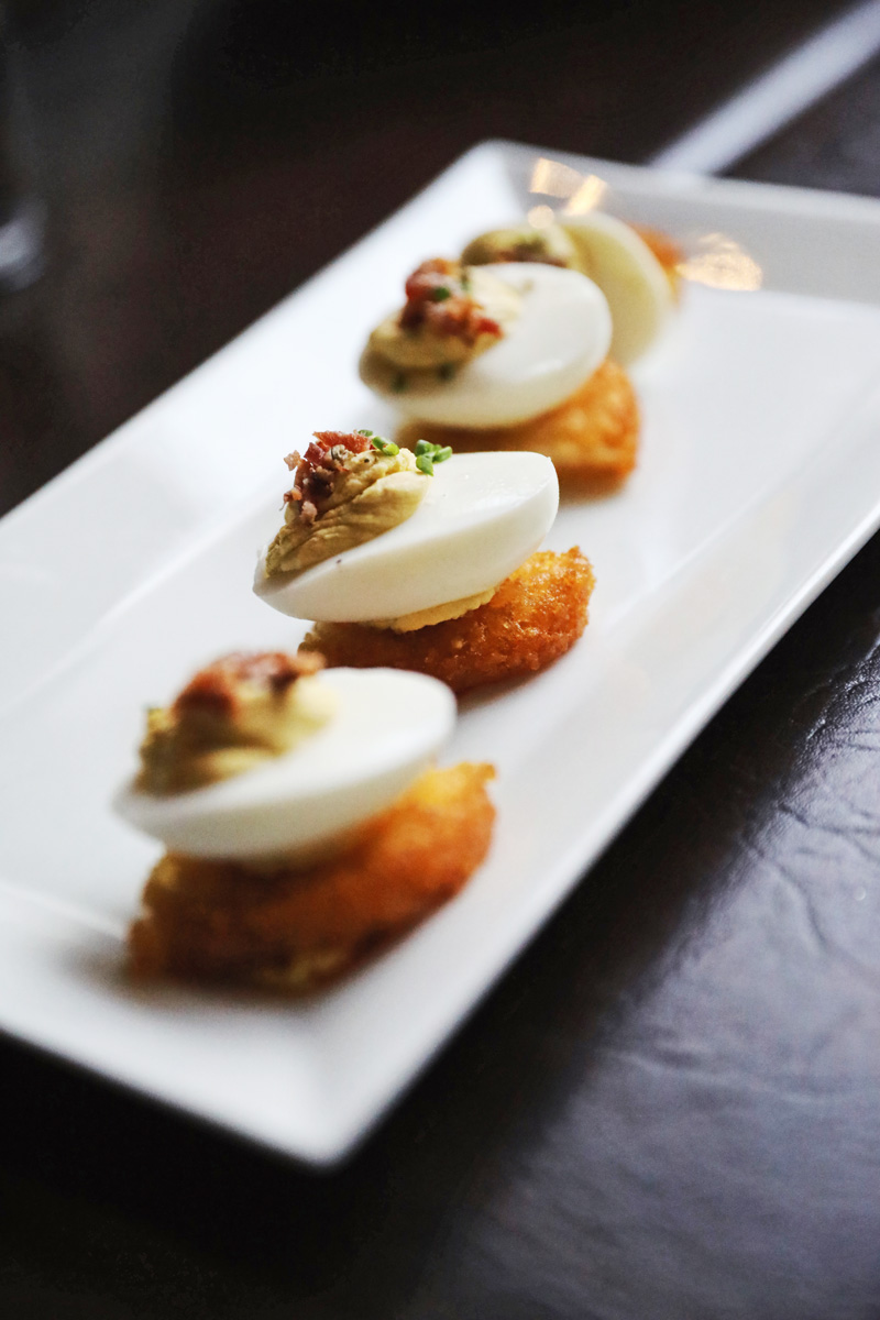 Deviled Eggs at Twisted Oak Tavern