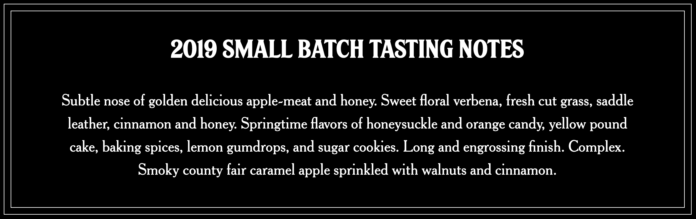 2019 Garrison Brothers Small Batch Whiskey Tasting Notes