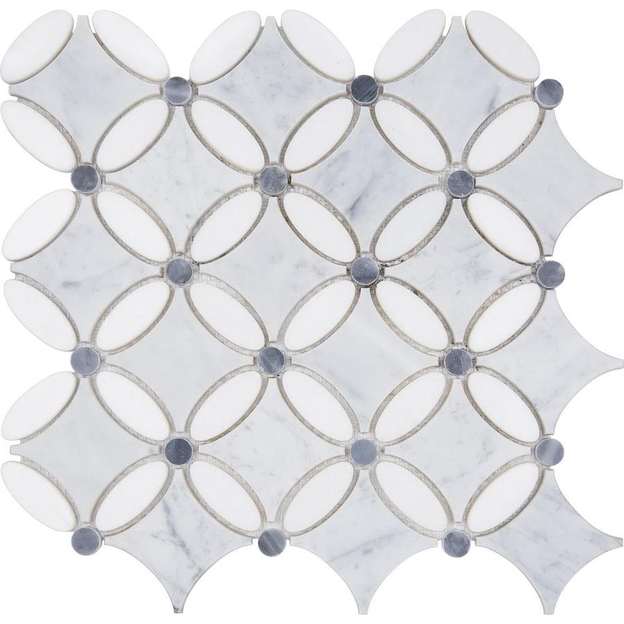 Anatolia Tile Flower Marble Mosaic Floor and Wall Tile