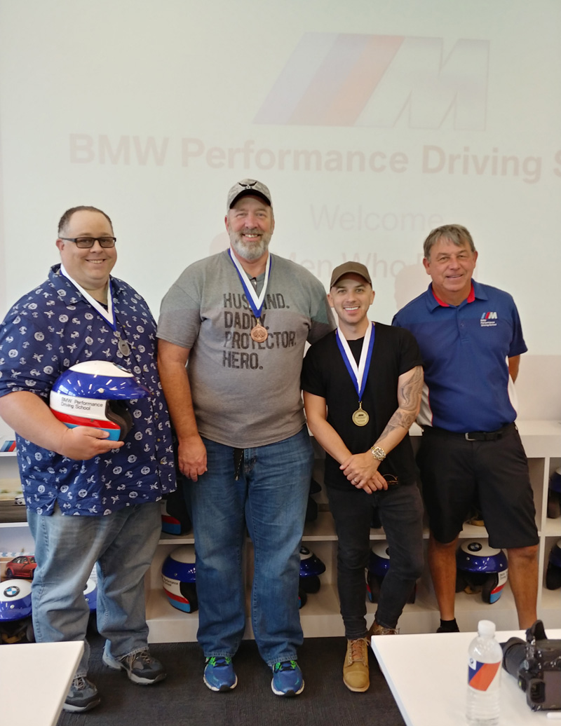 BMW Driving School race winners
