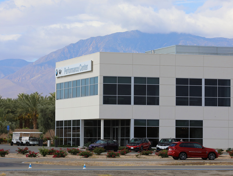 BMW Performance Center building in Thermal, CA